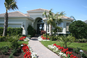 Hurricane Damages Florida Home