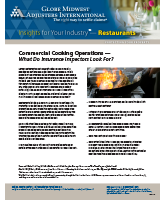 Commercial Cooking Operations - What do Insurance Inspectors Look For? - Insights for Your Industry