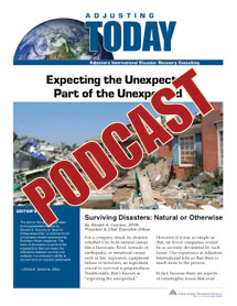 Expecting the Unexpected: Surviving Disasters